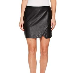 BlankNYC vegan leather black mini skirt